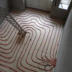 Und weil´s so schön war: noch ein letzter Blick auf die Fußbodenheizung!