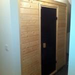 Will aufgeheizt werden: die Sauna